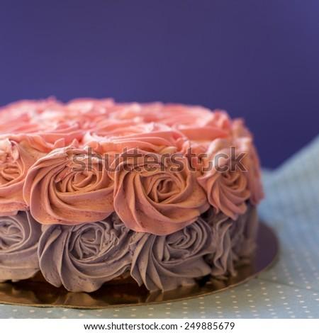 celebratory cake - stock photo