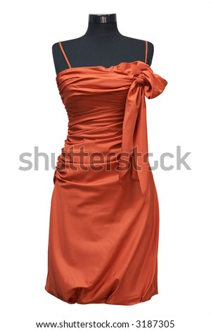 Celebratory female dress on a white background - stock photo