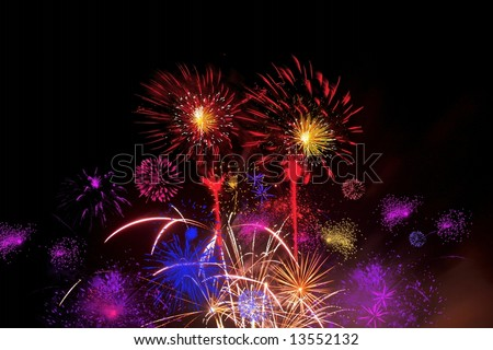 Celebratory firework . illustration - stock photo