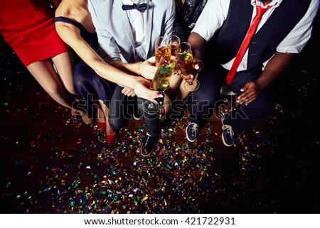 Celebratory toast - stock photo
