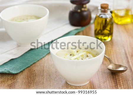 Celery and Salmon soup