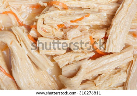 Celery salad with carrot - stock photo