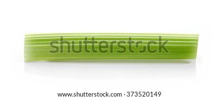 celery stick isolated on white background - stock photo