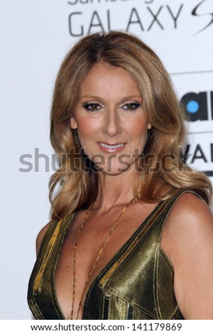 Celine Dion at the 2013 Billboard Music Awards Press Room, MGM Grand, Las Vegas, NV 05-19-13 - stock photo