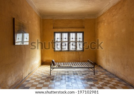 Cell in prison - stock photo