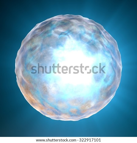 Cell nucleus, human body, anatomy, ovum, fertilization - stock photo
