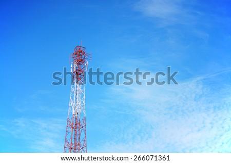 Cell phone antenna - stock photo