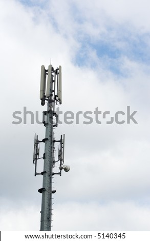 cell phone antenna mast with sky as background