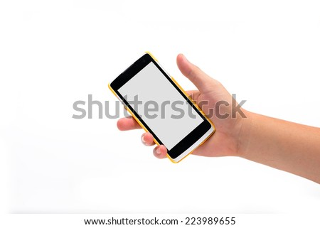 Cell Phone Business  isolated on white - stock photo