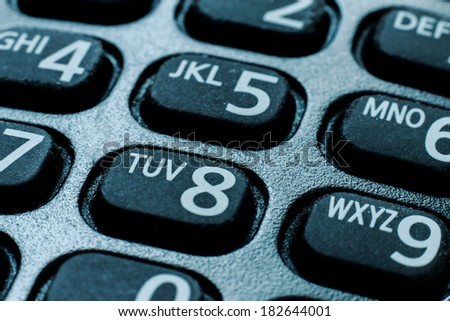 cell phone dial pad close up - stock photo