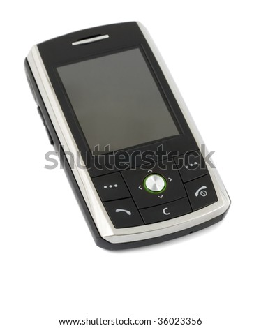 cell phone isolated on white background - stock photo