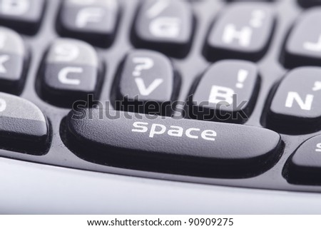 Cell phone keyboard close up - stock photo