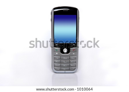 Cell phone - landscape format - stock photo