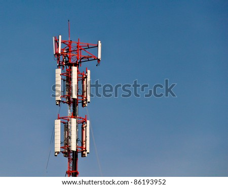 Cell Phone Mobile Tower - stock photo