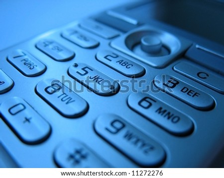 CELL PHONE PADS 4 - Cell phone pads close-up. - stock photo