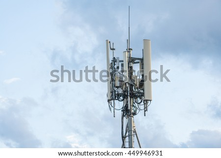 Cell phone telecommunication, antenna, repeater, transmitter tower.