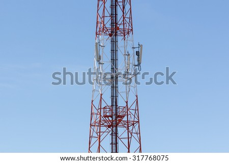 Cell Phone Tower - stock photo