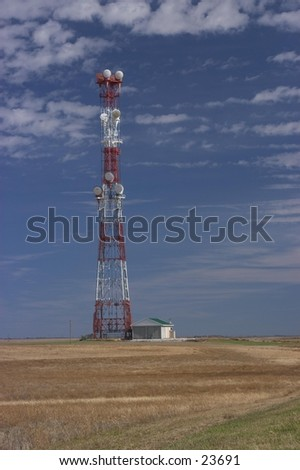 Cell phone tower in rural Nebraska