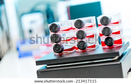 cell therapy samples - stock photo