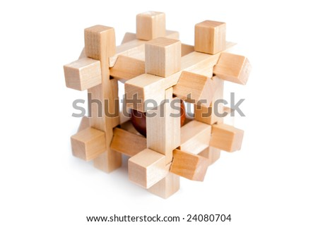 Cell wood puzzle