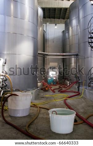 cellar interiors - stock photo
