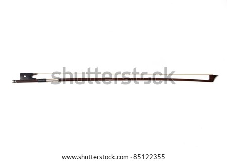 Cello bow isolated over a white background - stock photo