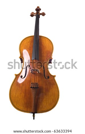 Cello on a white background - stock photo