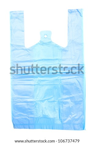 Cellophane bag isolated on white - stock photo