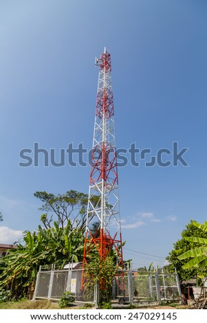 Cellular communications tower - stock photo