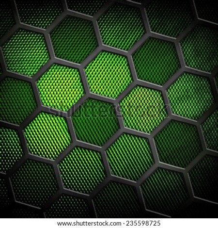 cellular metal background  - stock photo