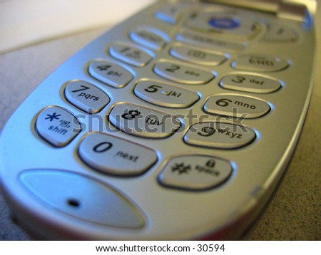 Cellular Phone Key pad - stock photo