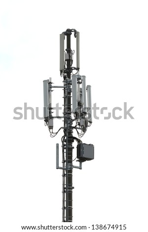 cellular transmitter - stock photo