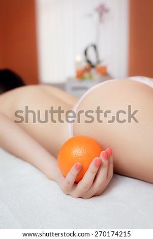 Cellulite Treatments hip. - stock photo