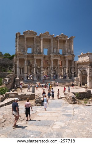Celsus Library, Ephesus, Turkey - stock photo