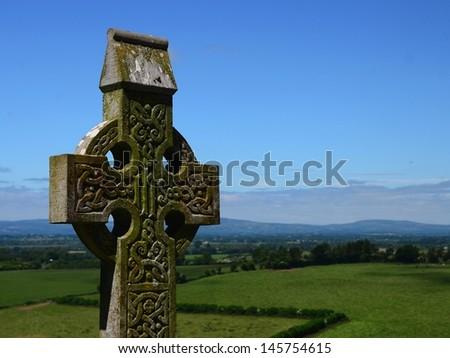 Celtic cross - stock photo