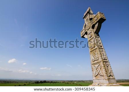 Celtic Cross at rock of cashel, co tipperary, ireland - stock photo