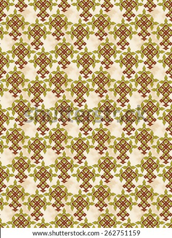 Celtic crosses in a grungy pattern design - stock photo