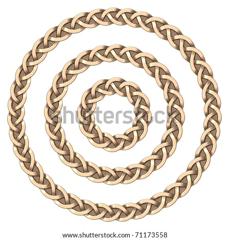 Celtic frame (circle) - stock photo
