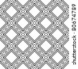 celtic monochrome seamless pattern - stock photo