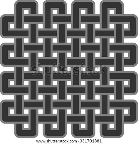 celtic ornamental design - stock photo
