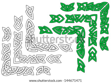 Celtic ornaments and patterns for design and embellishments. Vector version also available in gallery - stock photo