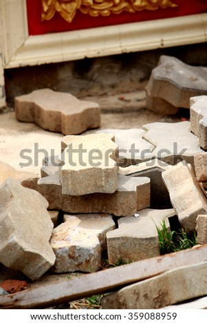 Cement block for construction - stock photo