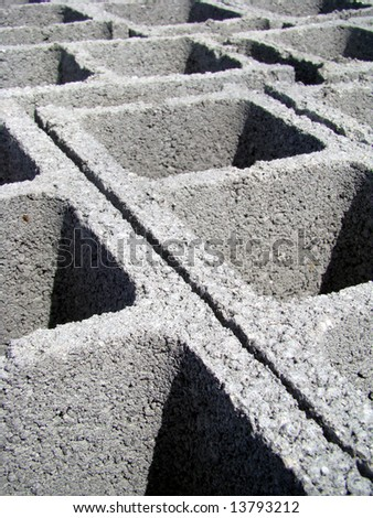 Cement bricks ready to use in building construction - stock photo