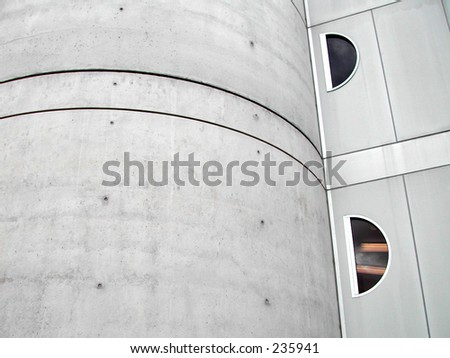 Cement building with windows