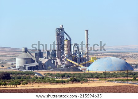 Cement Factory  - stock photo