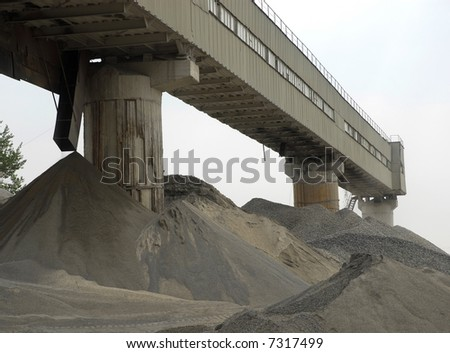 Cement factory in Russia - stock photo