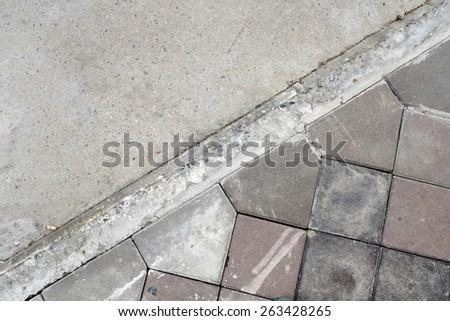 Cement floor backgrounds - stock photo