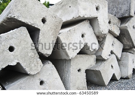 cement footpath - stock photo