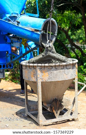 Cement for home builder - stock photo