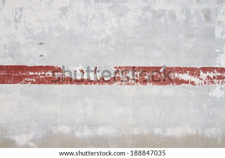 cement grunge wall and a line - stock photo